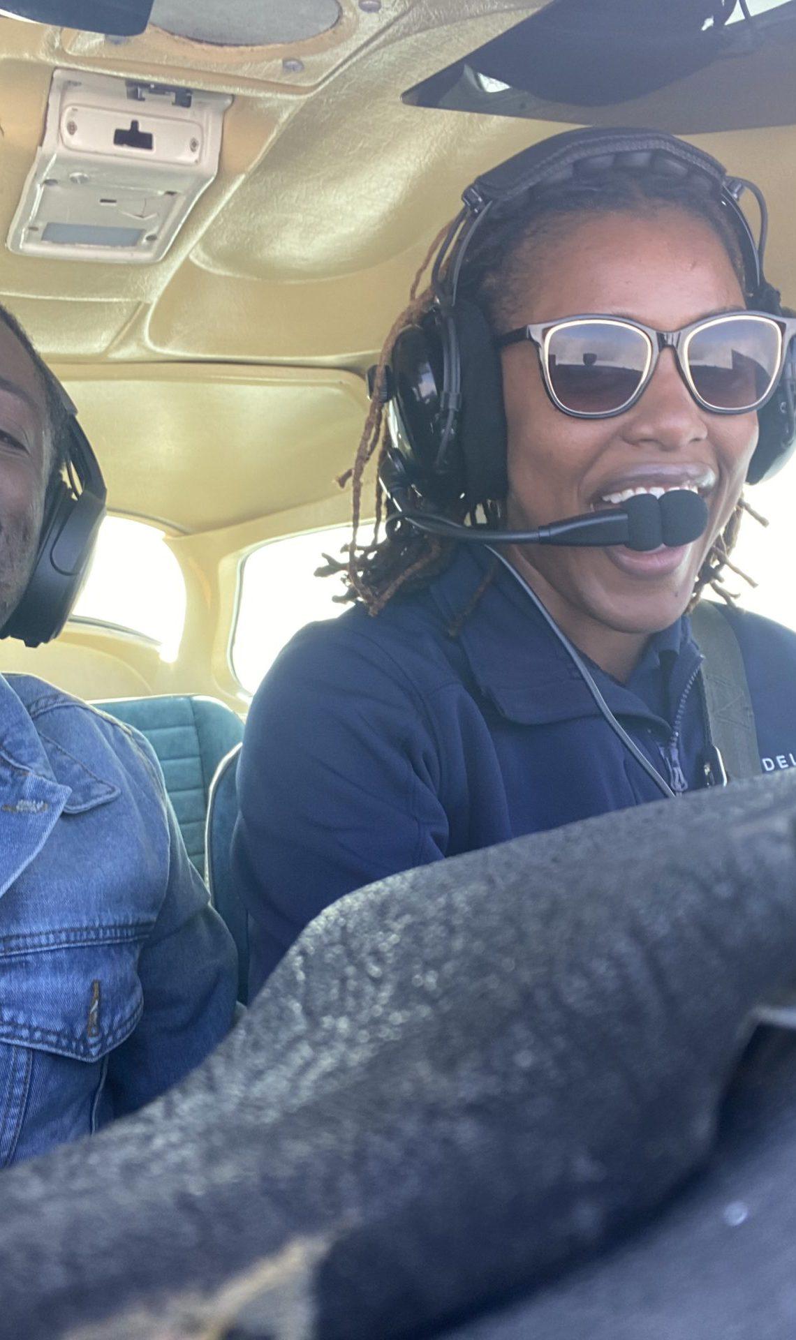 Flight attendant to pilot